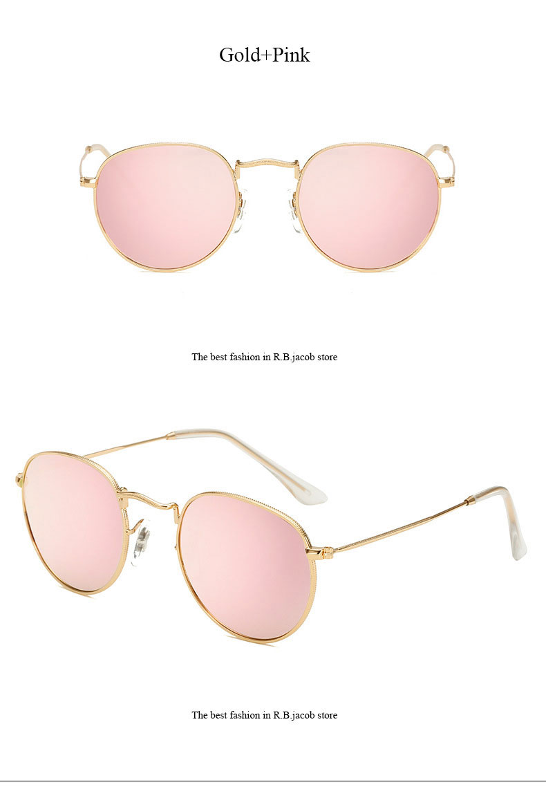 HTB1oqmwQVXXXXXxXpXXq6xXFXXXL - Round Sunglasses Women Retro Brand Designer Classic Rose Gold Steampunk Sun Glasses Men UV400 Rayed Mirror Female UV400