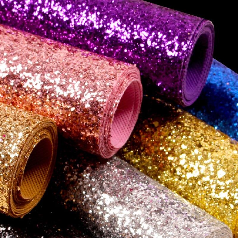 Utilisation chaude de papier peint de scintillement d'or/argent pour le salon, tissu brillant de scintillement de la catégorie 3 pour des rouleaux de papier peint de parede de maison