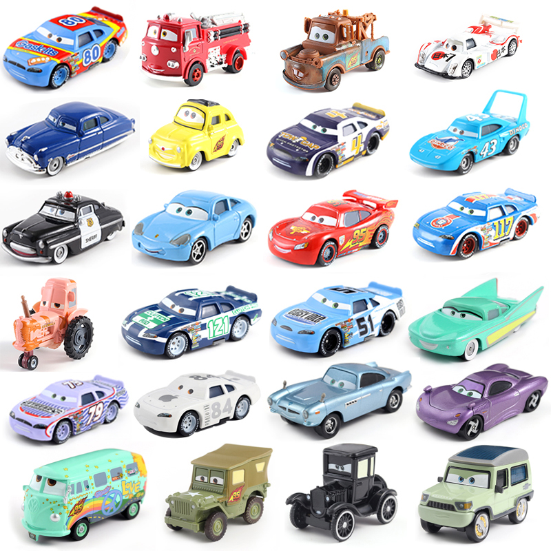 Disney Pixar Car 3 Lightning McQueen Family Jackson Storm Ramirez 1:55 Die Cast Metal Alloy Model Toy Car Free Shipping
