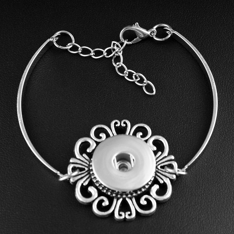 7 styles Vintage Bohemia 18mm snap button jewelry bracelet  DIY   bangles BR739 snap button jewelry