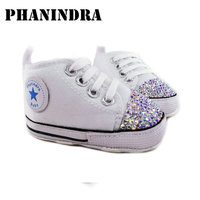 Princess Rhinestone Pink Baby Shoes Handmade AB Rhinestone Crystal Baby Toddler Bling Bling Shoes Kids Fashion