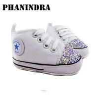 Princess Rhinestone Pink Baby Shoes Handmade AB Rhinestone Crystal Baby Toddler Bling Bling Shoes Kids Fashion