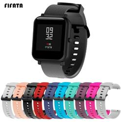 FIFATA 20MM Replacement Silicone Watch Band For Polar Ignit Wristband For Xiaomi Huami Amazfit Bip/GTS/GTR 42mm Smart Watch Band