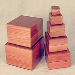 Nest of Boxes - Wooden Magic Tricks Stage Accessories Gimmick Comedy Illusion Mentalism Object Appearing from Empty Box Magie