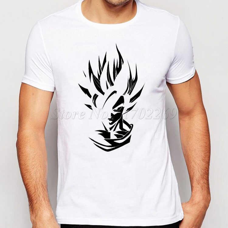 2018 новая известная Мужская футболка с принтом Dragon Ball Z из ткани Сон Гоку Супер Саян Модная белая черная простая безрукавка для мужчин