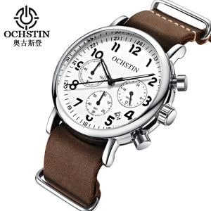 Image 3 - OCHSTIN Chronograph Mens Watch Men Watches Male Casual Top Brand Luxury Quartz Wristwatch Clock Military Clocks Stopwatch 081A