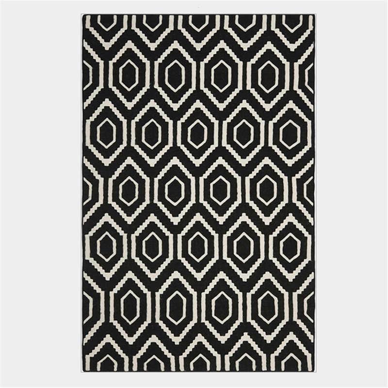Nórdico Preto e Branco Geométrica Elemento Diamante Tapete Tapetes e Carpetes para Casa Sala de Estar Sala de Crianças Tapete Quarto Tapetes