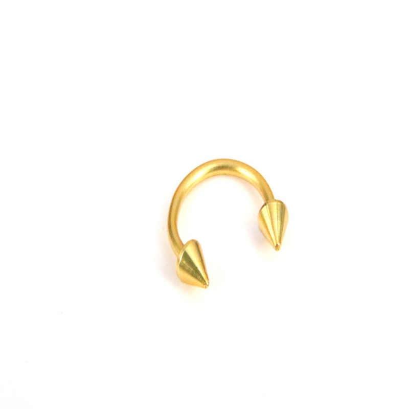 แหวนปลอมจมูก Tragus Piercing Horseshoe Septum เหล็กผ่าตัดหู Lip Tragus อุตสาหกรรมเจาะ Nariz เครื่องประดับ Sieraden