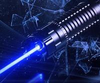 Супер мощность ful 450nm 200000 м Синий лазерная указка горения высокой LAZER Ручка 5 головок зарядное устройство очки с металлической коробке