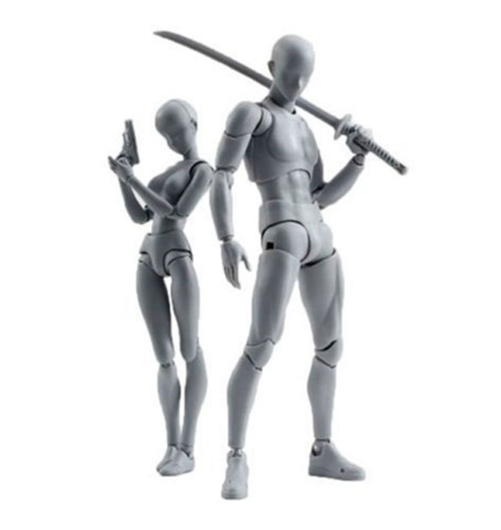 3 Colors Top S.H.Figuarts SHF BODY CHAN & KUN DX Set Ver Action Figure 30 Points shfiguarts pvc body kun body chan body chan body kun grey color ver black action figure collectible model toy