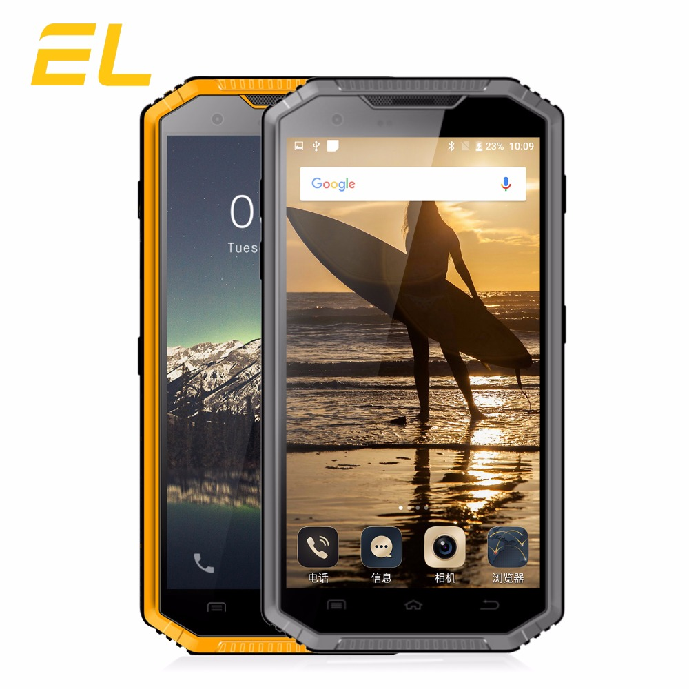 E L W7 IP68 Rugged Mobile Phone Waterproof Shockproof Phone 5 0 Inch HD IPS MTK6735