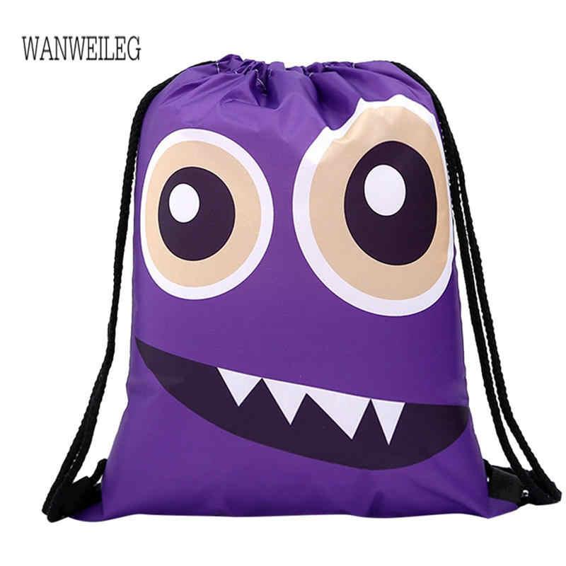 2019 новые сумки на шнурке, упаковка, Женский комплект веревок для хранения, Забавный милый узор, сумка-мешок для покупок, рюкзак для женщин, plecakL * 5