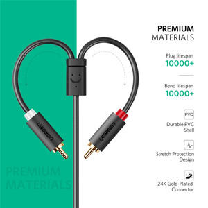 Image 5 - Ugreen kabel RCA 2 RCA męski na żeński 3.5mm Jack Adapter kabel Audio kabel Aux dla iPhone Edifer kina domowego DVD VCD słuchawki