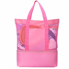 Beach Bag Tote, Outdoor Zipper Single Shoulder Gear Bag for Travelling, Beach Playing, Sports