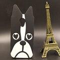 Saco do telefone para motorola moto g2/moto g3 phone case dos desenhos animados 3d cão bonito padrão case de silicone suave voltar celular capa frete grátis
