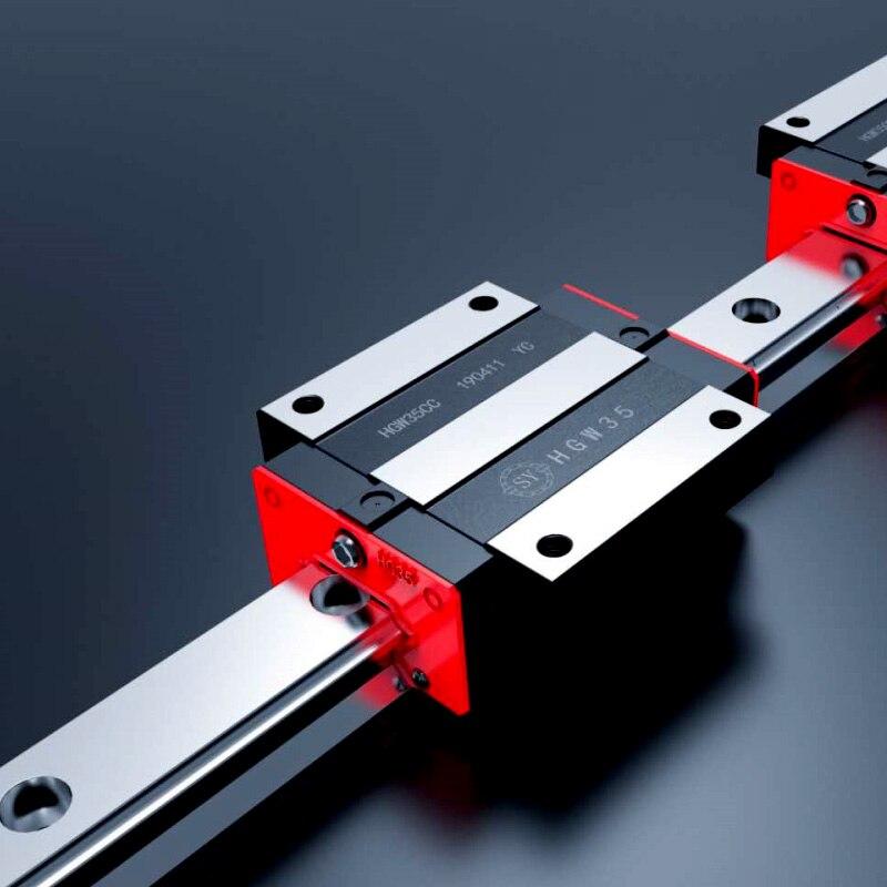 Rail de précision 1PC HGH30 guide linéaire + 2 pièces HGH30CA bloc ou HGW30CC bride bloc L 400 500 600 700 800-1500mm pour CNC