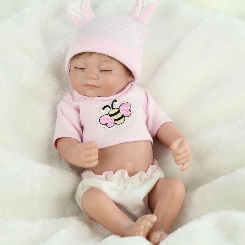 ФОТО New Silicone Reborn Baby Dolls Handmade Real Looking Newborn Baby Silicone Realistic Reborn Doll Girl Baby Girl Gift