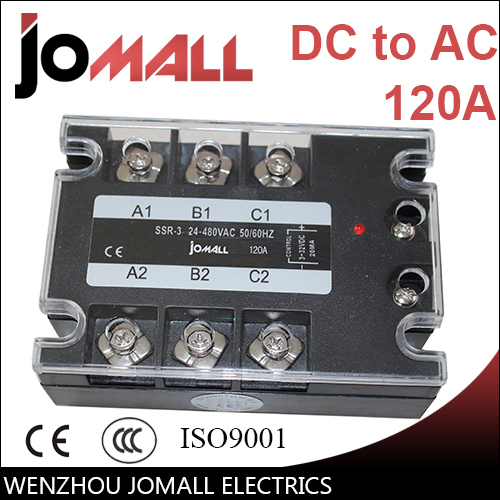 120A DC control AC SSR three phase Solid state relay normally open single phase solid state relay ssr mgr 1 d48120 120a control dc ac 24 480v
