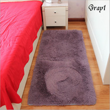 Free Shipping Hot Sale Gray 1 Rectangle Bath Mat Bedroom Floor Carpet Absorbent Non-Slip Doormat