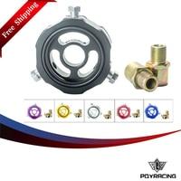 PQY RACING Free shipping- ADD Oil Block Adapter oil temp pressure sensor Turbo line Oil sandwich Adapter PQY6745