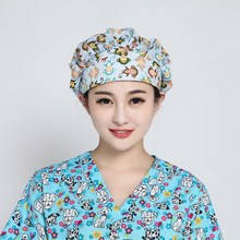 Get more info on the 16 colors 5 pcs Women Surgical Caps Doctor Nurse Medical Cap Woman Beautician Cap Printing Cotton Dome Scrub Hat Surgical Caps
