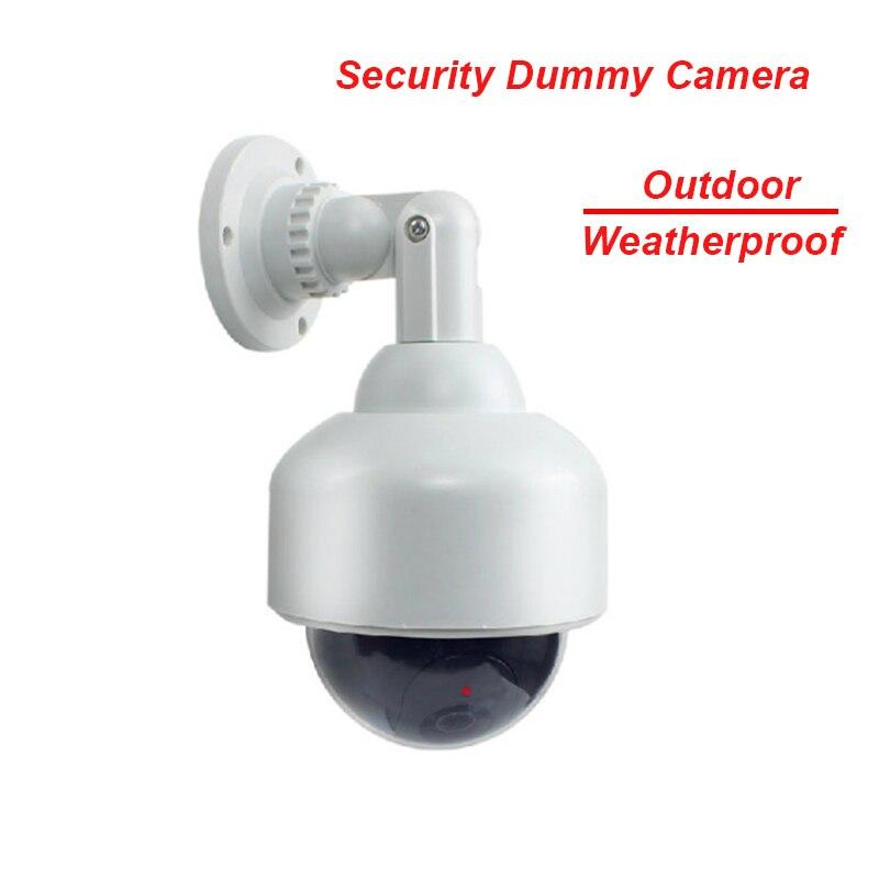 Fayele Security CCTV Outdoor Weatherrpoof Simulation Fake Camera Dummy Dome Camera Surveillance Cheap Price Dummy Camera W/ LED