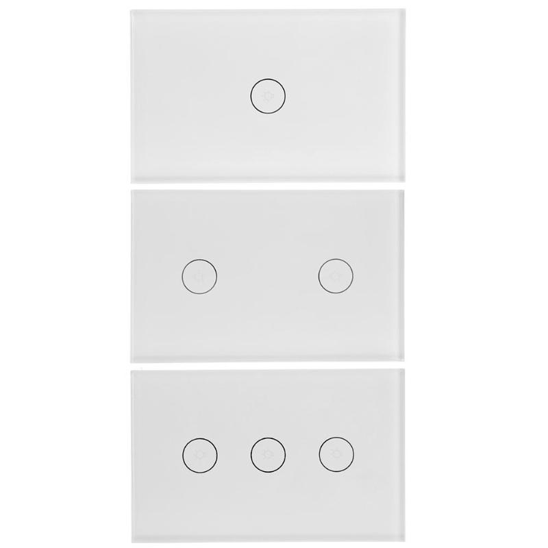 1/2/3Gang Smart WiFi Light Wall Touch Switch Panel Home Remote Control Alexa Wall Touch Switch Panel,AC 110-240V 50/60Hz