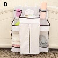 Portable Baby Bed Hanging Storage Bag Waterproof Toy Diapers Pocket Bedside Organizer Infant Crib Bedding Set