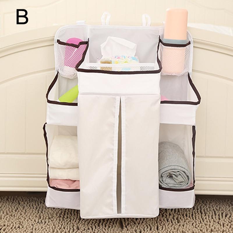 Portable Baby Bed Hanging Storage Bag Waterproof Toy Diapers Pocket Bedside Organizer Infant Crib Bedding Set MYDING
