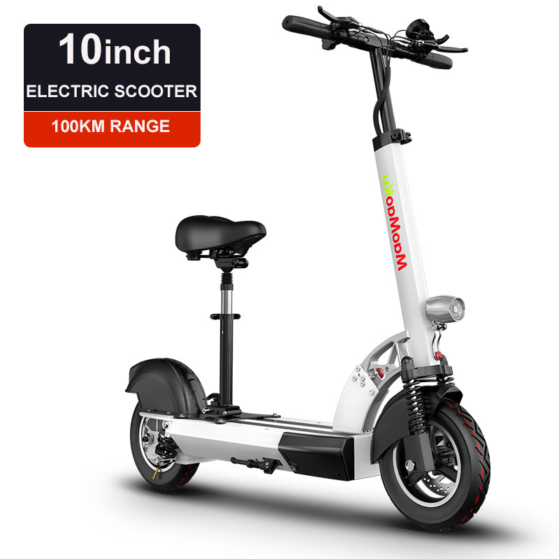 10inch electric scooter 48V lithium battery electric font b bicycle b font 500w high speed 100km