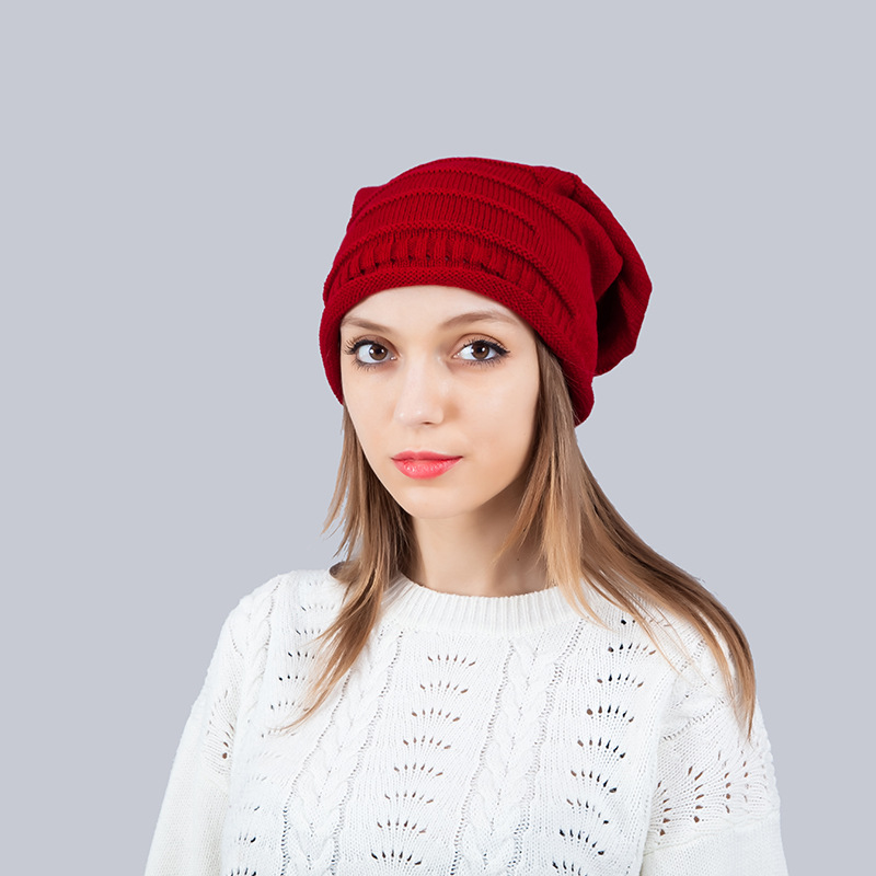 Women S Oversized Slouchy Beanie Hats Men Winter Cotton Knitted Hat Unisex  Warm Crochet Baggy Skullies Beanies Hat Female Male a4930995cfb