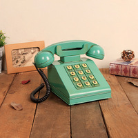 Retro Telephone Model Living Room Decoration Creative Home Furnishing Iron Phone Piggy Bank Saving Pot Gifts Presents Props