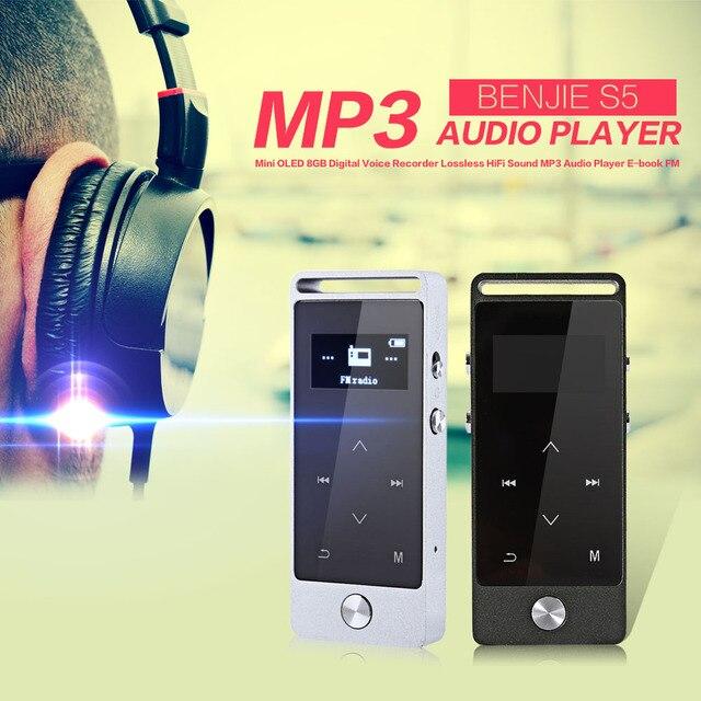 BENJIE S5 Сенсорный Экран Mp3-плеер Мини-oled 8 ГБ Цифровой Диктофон Без Потерь Звука HiFi MP3 Аудио Плеер FM Радио e-book