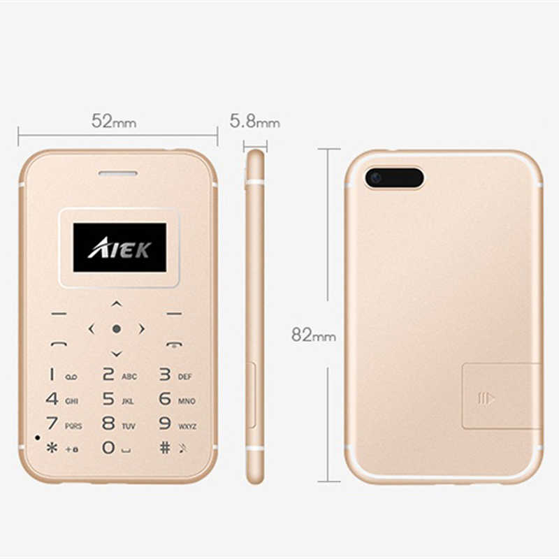 AIEK X8 超スリムクレジットカード電話トーチポケット携帯晩餐ミニ携帯電話は、単に電卓携帯電話送料カメラ BT 3.0