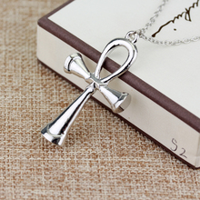 Mystic Egyptian Ankh Cross Charm Pendant Necklace for Woman Silver Tone Egypt Jewelry Great Gift Jewelry Accessories -30