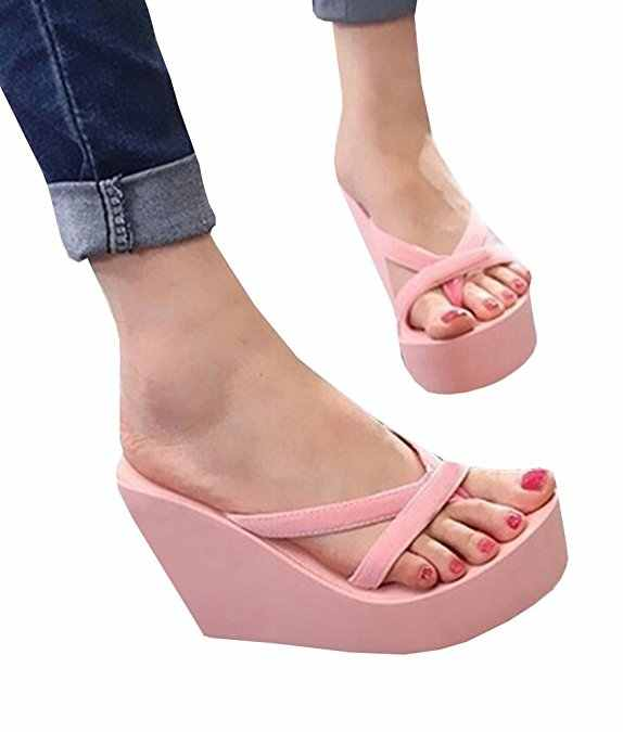aef8e70ad ... Fashion Women Sandals Casual Summer Handmade Platform Shoes Wedges Flip  Flops Outdoor Slippers Flat Slides EVA ...