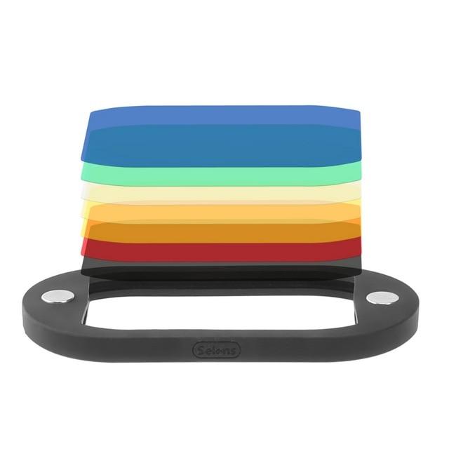 Ready Stock 8PCS Selens Colorful Flash Gel Filter for DSLR Camera For Canon Nikon Yongnuo Flash Speedlite