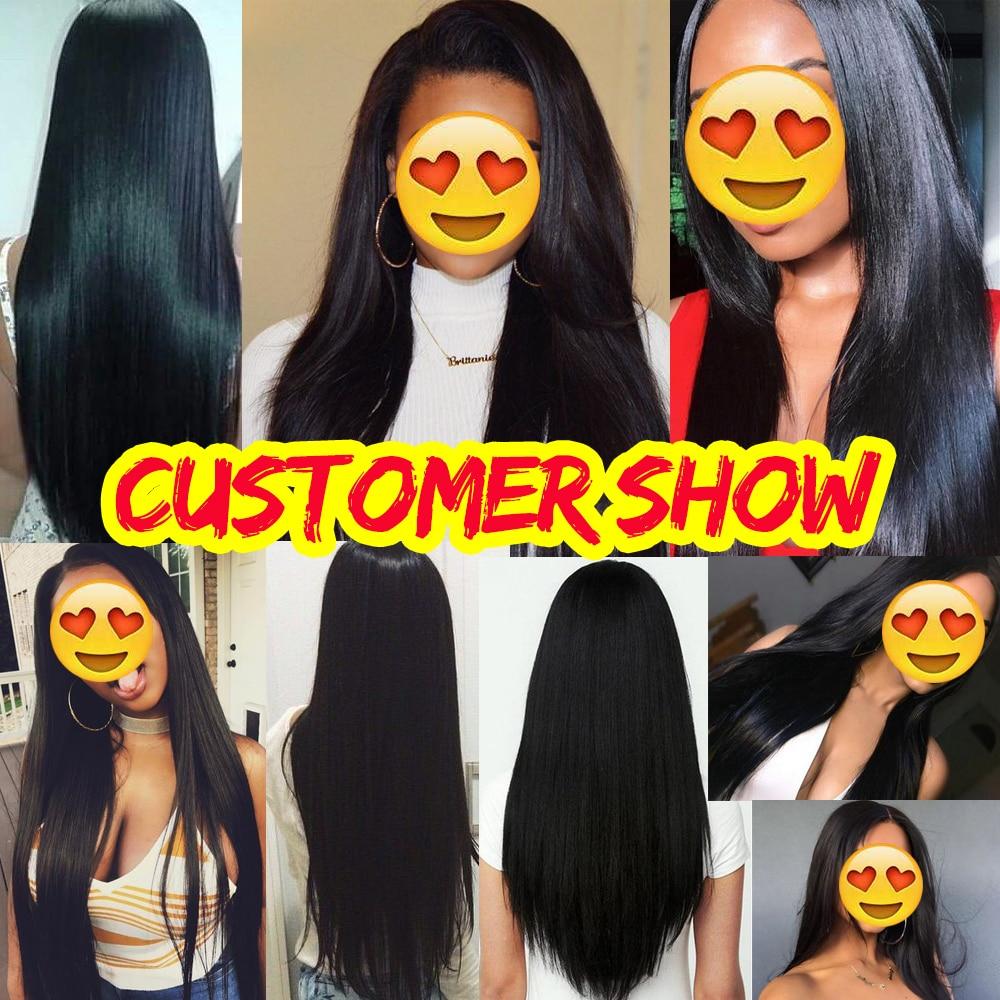 Bulu Rambut Brazil Lurus Sambungan Rambut Manusia 1 Bundle Deals - Rambut manusia (untuk hitam) - Foto 6