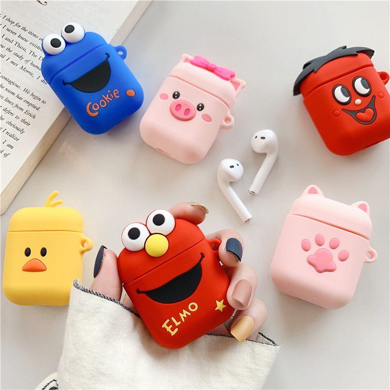 Cartoon Cute Wireless Bluetooth Earphone Case For Apple AirPods Silicone Charging Headphones Cases For Airpods Protective Cover-in Earphone Accessories from Consumer Electronics