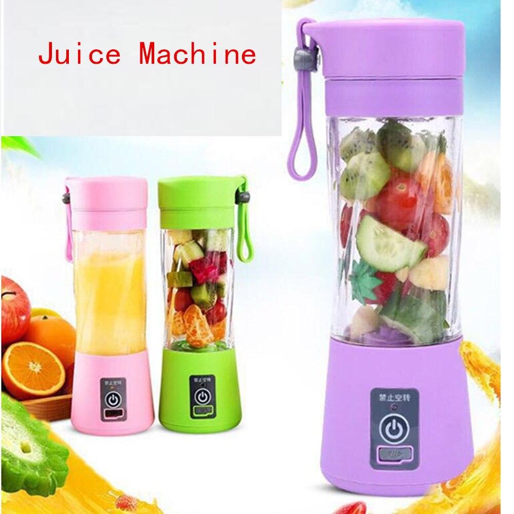Portable Blender Juicer Cup Bottle USB Electric Fruit Citrus Lemon Juicer Blender Juice Machine 2/4/6 Blades /5