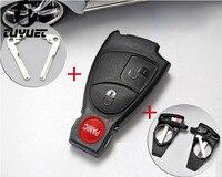 2 + 1 Knoppen Smart Afstandsbediening Sleutel Shell Voor Mercedes Benz FOB Case Met Batterij Houder Clip en Sleutelblad