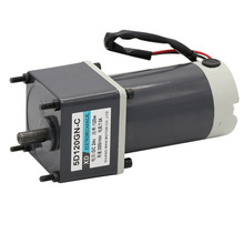 цена на 12V24V permanent magnet DC gear motor 120W high power micro slow speed motor speed control small motor