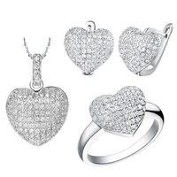 Silver Plated Wedding Set Earrings Luxury Brand Collier Mariage Crystal Jewelry Conjuntos Joyas Parure Bijoux Mariage Femme YS-3