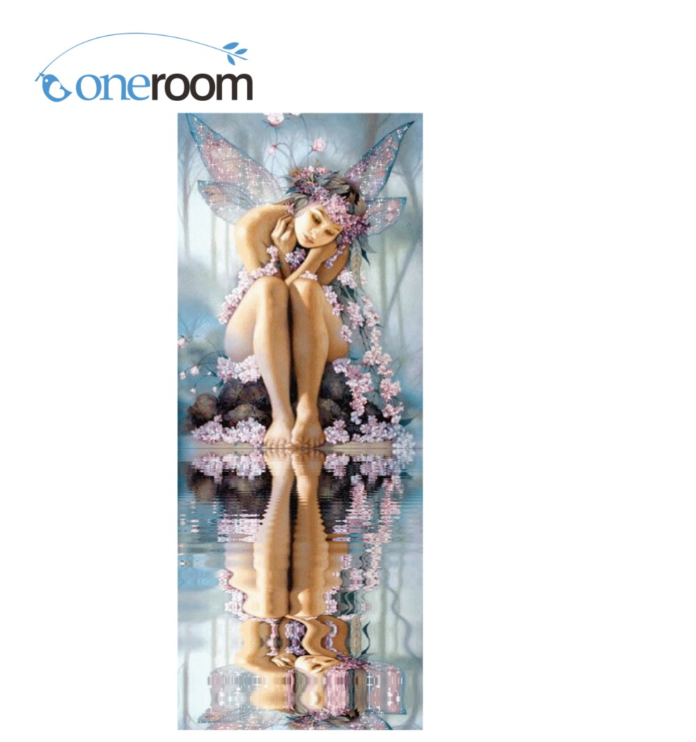 Oneroom 3D Diy Diamond painting fairy by the river crystal Needlework Embroidery Resinstone Diamond Mosaic Decoration