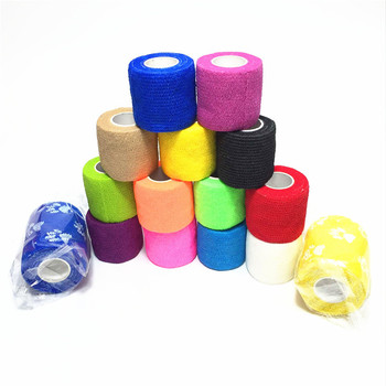 10 rolls 5cmx4 5m pbt elastic bandage gauze roll home family first aid wound sports nursing medical emergency care bandage 450x5cm Waterproof First Aid Self Adhesive Elastic Bandage Medical Health Muscle Care Gauze Tape 9 Colors