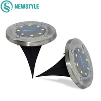 8 LEDs Solar Lights Outdoor Waterproof Garden Solar Powered Ground Light For Pathway Driveway Home Yard Solar Street Lawn Lamps