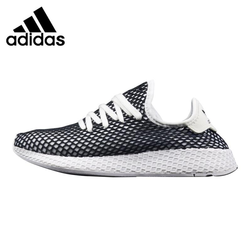 ae9e150582a05 Adidas Deerupt Runner Men Running Shoes Black  White Shock Absorbent ...