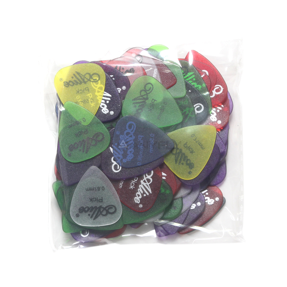 100Pcs Original Alice AP-100I Matte Clear Transparent Colorful Guitar Picks Assorted Thickness Colors Wholesales
