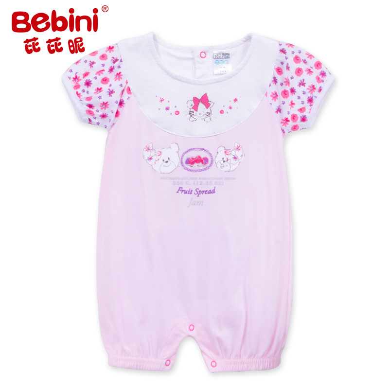 Bebini original Baby Girl print flower Rompers Infant girl floral rompers newborn baby girl gift Toddle top quality clothes !