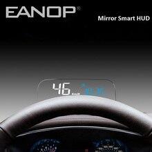 EANOP HUDกระจกHead UpจอแสดงผลOBD2 GPSรถEletronicsคอมพิวเตอร์SpeedometerกับKMH KPMน้ำมันเชื้อเพลิงการตรวจสอบ